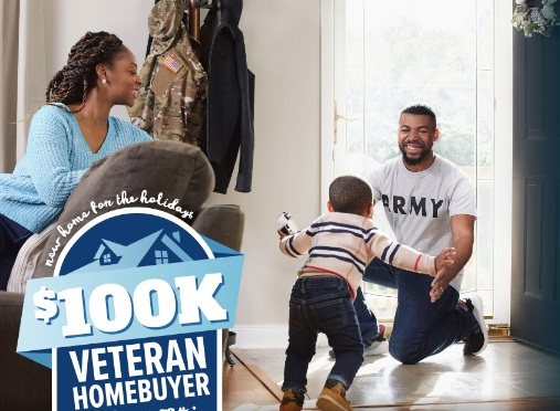Mortgage Research Center New Home For The Holidays $100K Veteran Homebuyer Giveaway