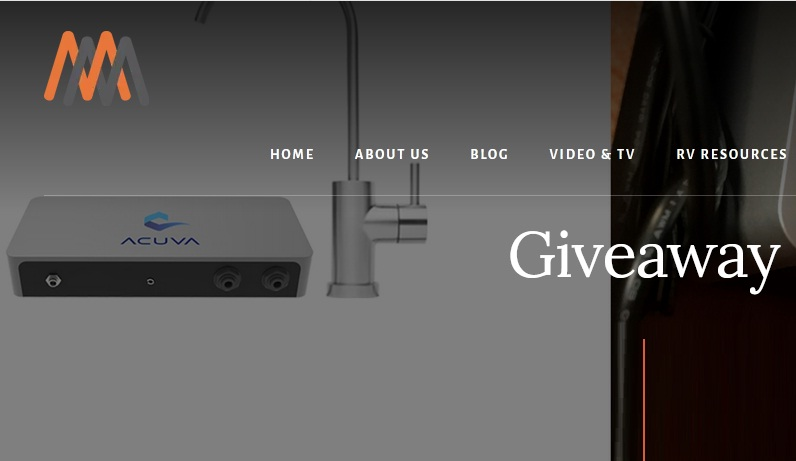 Mortons On The Move Acuva Water UV Sanitization System Giveaway