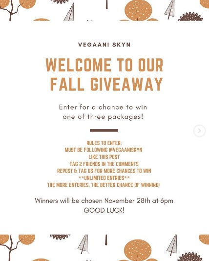 Vegaani Skyn Giveaway