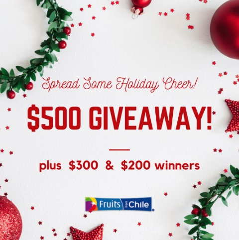 Fruits From Chile Holiday Cheer Giveaway