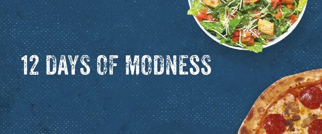 MOD Pizza 12 Days Of MODness 2020 Sweepstakes