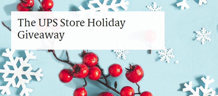 UPS Store 2020 Holiday Gift Sweepstakes