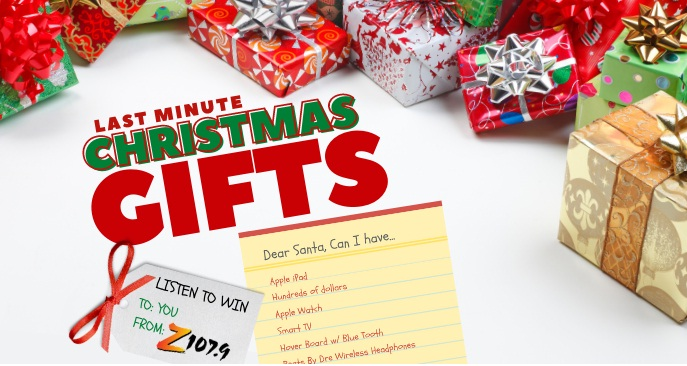Z 107.9 Last Minute Christmas Gift Online Giveaway