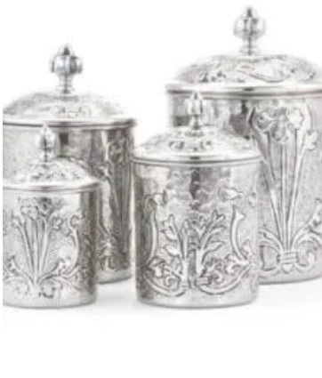 Riverbend Home A Set Of 4 Art Nouveau Stainless Steel Canisters Giveaway